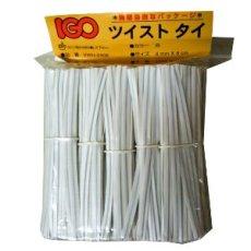 画像2: ツイストビニタイ 白 4×80(1000入) (2)