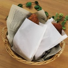 画像2: パンの包装工場耐油ガゼット袋(無地)M (2)