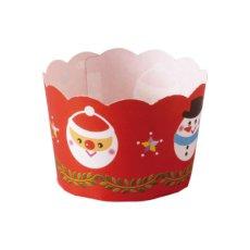 画像1: XM662 ケーキカップコロン(クリスマス)ミニカップ 100入 数量限定 (1)