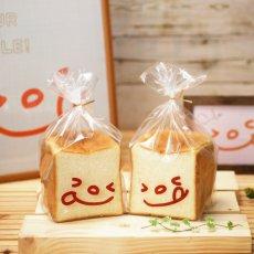 画像1: ニッコリ食パン袋 茶 100枚 (1)