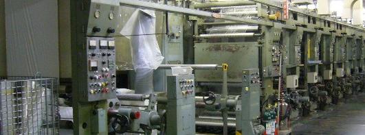グラビア印刷機の写真