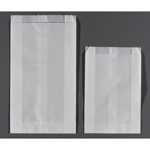 画像1: パンの包装工場耐油ガゼット袋(無地)S (1)