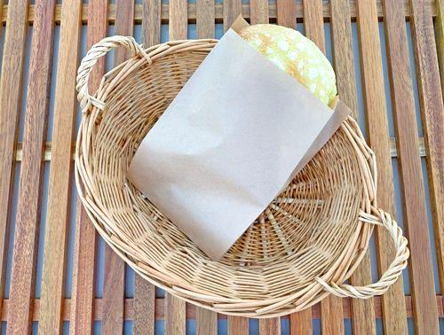 画像1: 未晒 パンの包装工場耐油ガゼット袋(無地)S茶 (1)