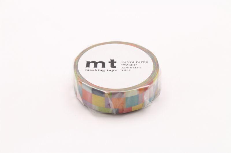 画像1: マスキングテープmt 1P モザイク・ブライト (1)