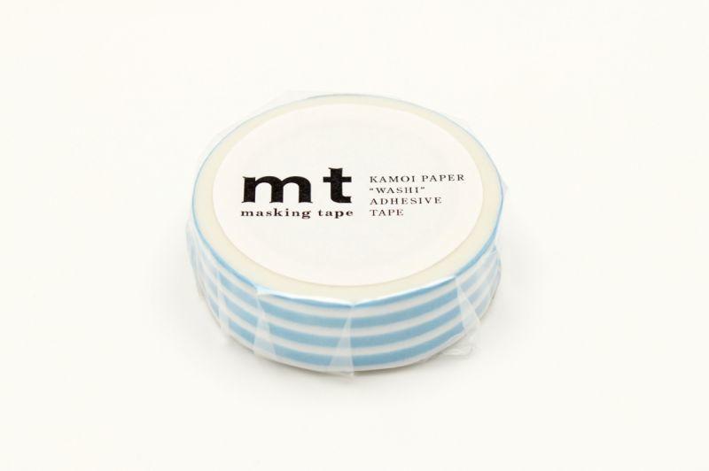 画像1: マスキングテープmt 1P ボーダー・アイス (1)