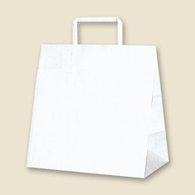 画像1: H25チャームバッグ(平手紙袋) W2 白無地 50枚 (1)
