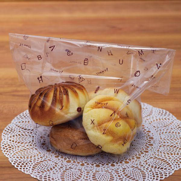 画像1: ABC食パン袋  茶 IPP 0.028×130+120×350 (1)