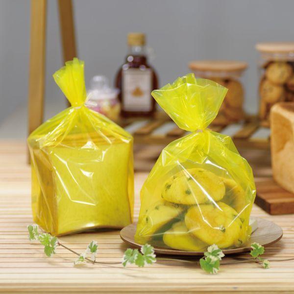 画像1: スケルトンイエローPPパン袋 100枚 (1)