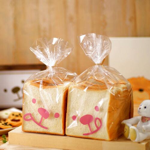 画像1: ペロリ食パン袋 ピンク 100枚 (1)