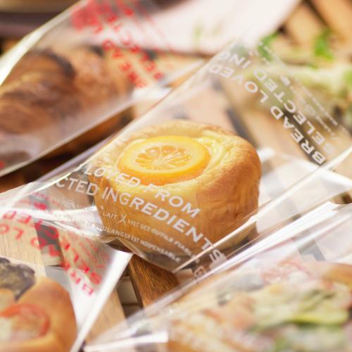 画像1: 愛されるパンはこだわり素材からOPP横型パン袋 白 150×145+5 100入 (1)