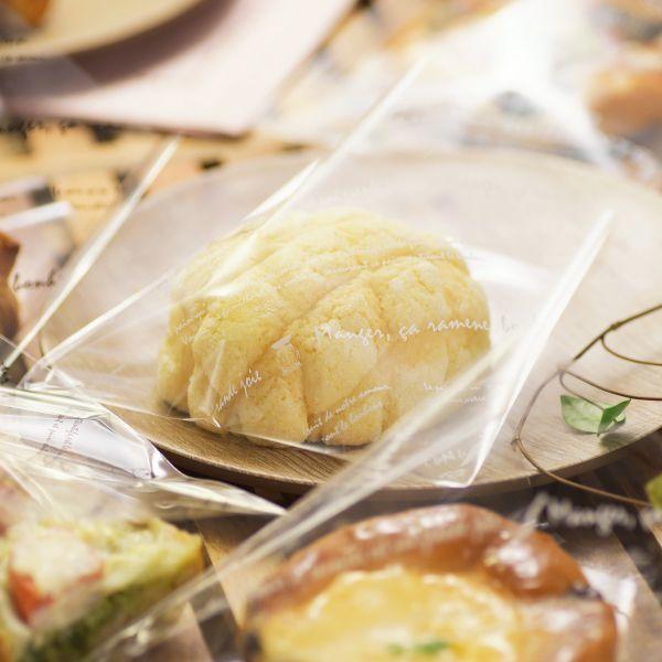 画像1: グランドゥジョア横型OPPパン袋 白 150×145+5 (1)