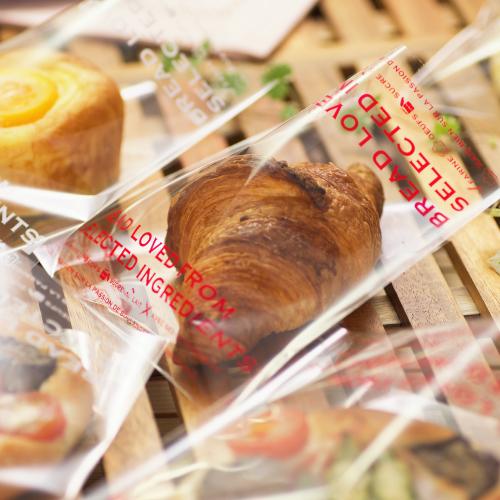 画像1: 愛されるパンはこだわり素材からOPP横型パン袋 赤 150×145+5 100入 (1)