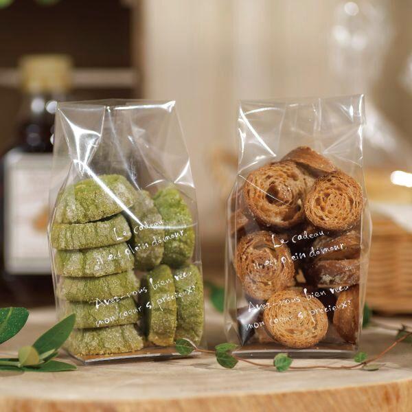 画像1: ラスク・クッキー袋 ル・ギャトー白 L (1)