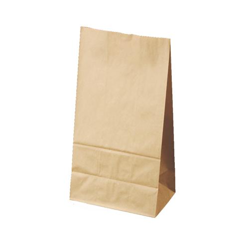 画像1: 角底袋 クラフト無地 8号 100枚 (1)