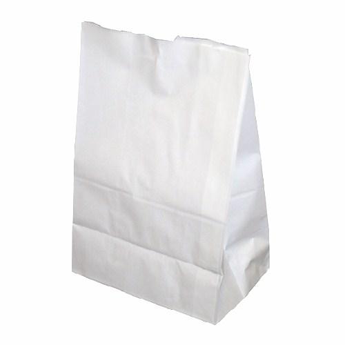 画像1: 角底袋 ホワイト白無地 8号 100枚 (1)